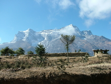 Acclimatization In Namche With View Of Kongde Ri