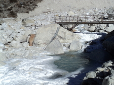 Cold River To Cross Going To Lobuche