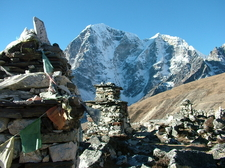 Sherpa And Climbers Cemetery On The Way To Mt Everest Base Camp