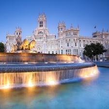 Plaza De Cibeles In Downtown Madrid