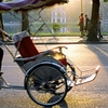 Man Driving Tricycle