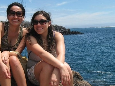Susana And Maria Isabel At Galapagos Islands