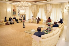 President Obasanjo Hosts The Then US First Lady Laura Bush At The Presidential Villa, 18 January 2006
