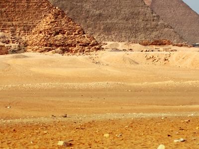Cairo Giza Valley Great Pyramids Large Ruins