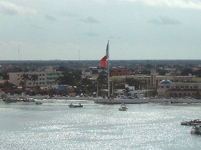 Aerial View Of San Miguel De Cozumel