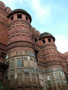 Agra Fort Massive Walls