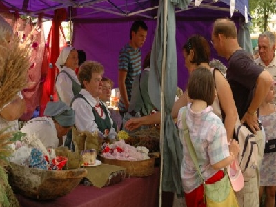 A Large Summer Fair With The ?apska Newspaper