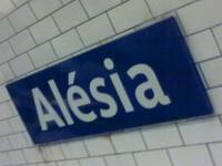 La estación de metro Alesia