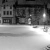 Alnwick Marketplace Snow Night