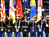 Armed Forces Color Guard At Super Bowl XLV