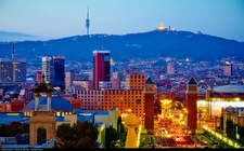 Barcelona Blue Hour From MontJuic