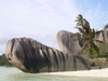 Beach On The Island Of La Digue - Seychelles
