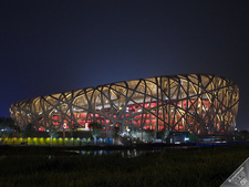 Beijing National Stadium At Night