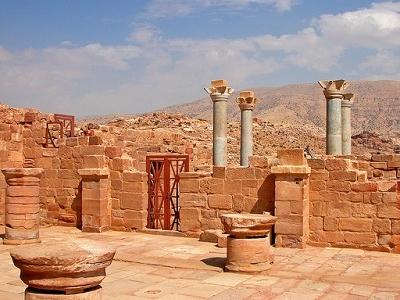 Blue Church Ruins At Petra - Jordan