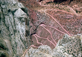 Burr Trail Road Switchbacks - Capitol Reef - Utah - USA