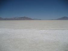Bonneville Salt Flats At Midday In Summer
