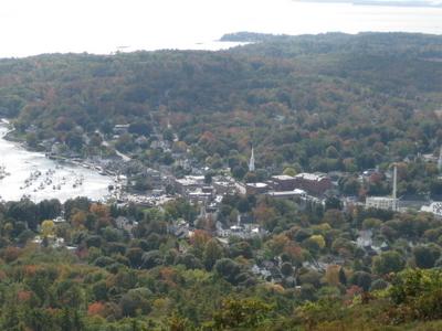 Camden From The Summit Of Mount Battie