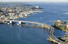Casco Bay Bridge With Downtown Portland ME