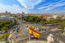 Cibeles Square From City Hall In Madrid