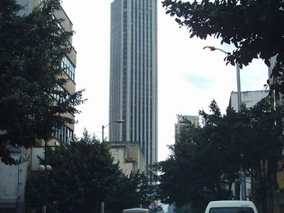 Tower As Seen From A Downtown Street