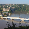 Chepstow Castle And 1816 Road Bridge Across The River Wye
