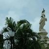 Roman Goddess Flora Statue Above Flora Fountain