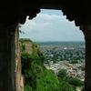 Gwalior Fort Window Arch Views
