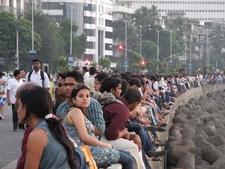 Crowds Enjoying At Scenic Marine Drive