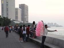 Candy Floss Vendor At Marine Drive