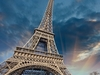 Eiffel Tower - Against Dark Clouds