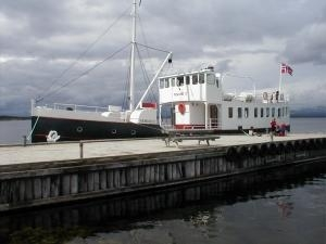 Old Steamship Seen At The Harbour