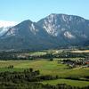 Ferlach (left) And Ferlacher Horn Mountain, Carinthia, Austria