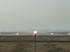 Approach Lights Of The Airport.