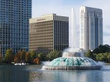 Fountain Inside Lake Eola - Orlando FL