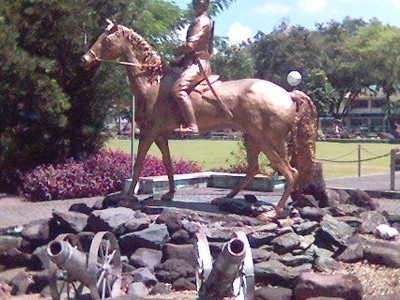 The Statue Of General Ola