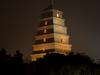 Giant Wild Goose Pagoda At Night