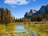 Half Dome With Merced River In Yosemite NP