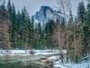 Half Dome & Yosemite In Winter