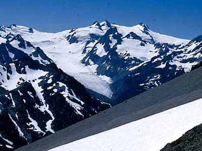 Hoh Glacier As Seen From Bailey Range