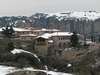 Holy Trinity Complex In Meteora - Winter View