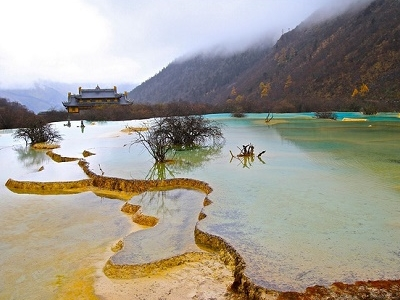 Huanglong Mountain In Sichuan Province