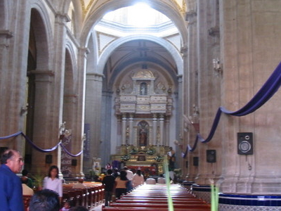 Interior Church Chalco Mexico