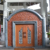One Of The Doors With Traditional Malay Motifs
