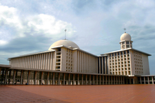 Istiqlal Mosque Viewed From Courtyard