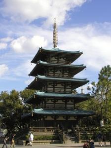 Japanese Pagoda At Epcot