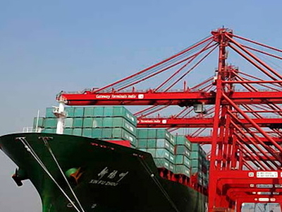 A Container Ship At Nhava Sheva