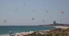 Kite Surfers In Table Bay - South Africa