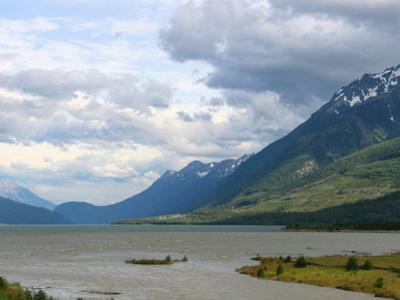 Kinbasket Lake Seen From Northern Tip