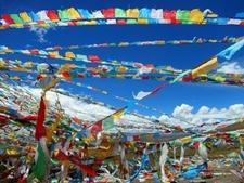 Llama Buddhist Prayer Flags - Tibet Autonomous Region - China