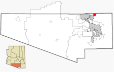 Location In Pima County And The State Of Arizona